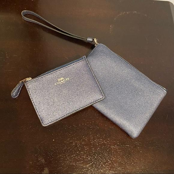 Coach wristlet and card case set
